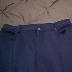 Free People Blue Stretch Skinny Pant Size 31